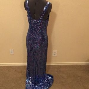 Niteline Dresses - Mermaid Sequin Prom dress Formal Evening Gown 10